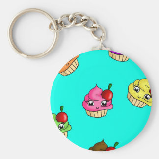 Cupcakes & cherries keychain
