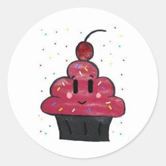 Cupcakes Classic Round Sticker
