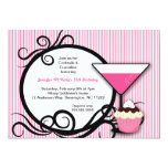 Cupcakes & Cocktails Birthday Party Invite