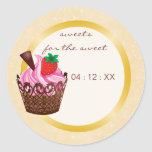 Cupcakes & Cocktails Party Favor Stickers - honey