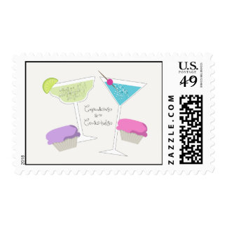 Cupcakes & Cocktails Stamps
