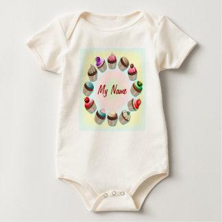 Cupcakes Colorful Circle Baby T-Shirt