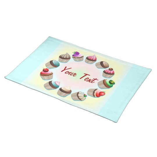 Cupcakes Colorful Circle Placemats