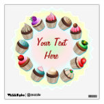 Cupcakes Colorful Circle Wall Decals