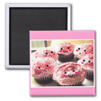 Cupcakes Crowd 2 Inch Square Magnet