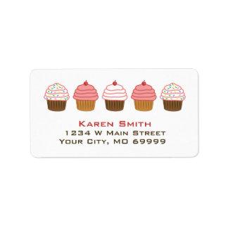Cupcakes Custom Address Label