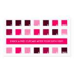 CUPCAKES customer appreciation (mod squares) Business Card Templates