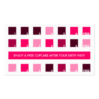 CUPCAKES customer appreciation (mod squares) Double-Sided Standard Business Cards (Pack Of 100)