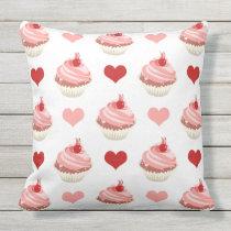 cupcakes cuties throw pillow