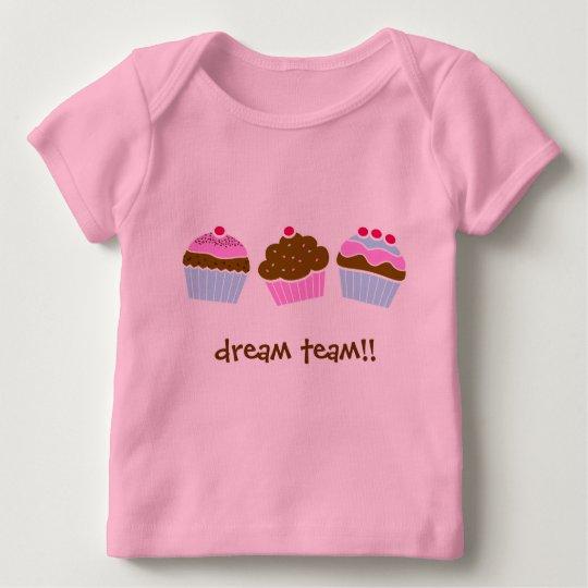 Cupcakes Dream Team Baby T-Shirt