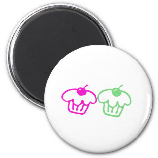 Cupcakes Duo 2 Inch Round Magnet