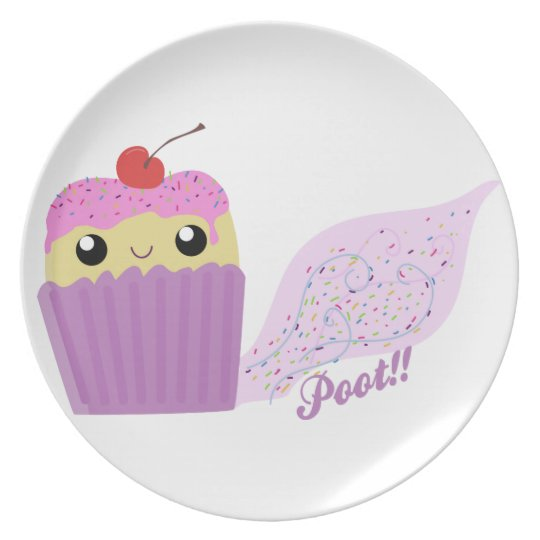 Cupcakes Fart Sprinkles Dinner Plate