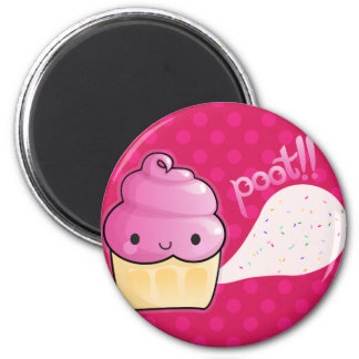 Cupcakes Fart Sprinkles Pink 2 Inch Round Magnet