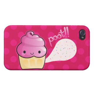 Cupcakes Fart Sprinkles Pink iPhone 4 Cases