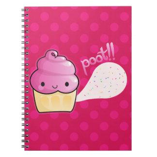 Cupcakes Fart Sprinkles Pink Notebook