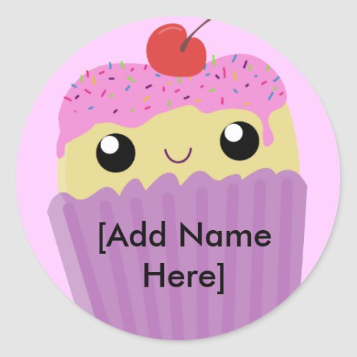 Cupcakes Fart Sprinkles Round Stickers