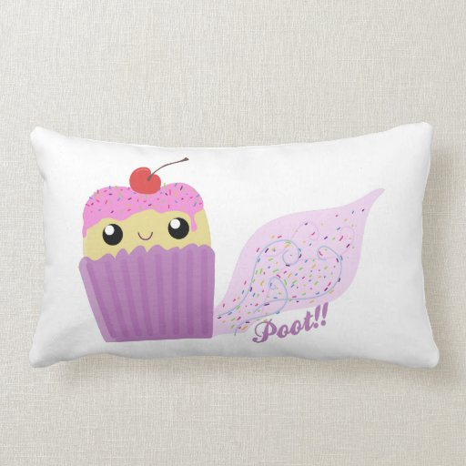 Cupcakes Fart Sprinkles Throw Pillow