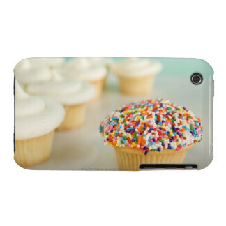 Cupcakes, focus on one in front with iPhone 3 Case-Mate case