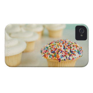 Cupcakes, focus on one in front with Case-Mate iPhone 4 case