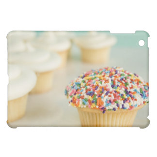 Cupcakes, focus on one in front with case for the iPad mini