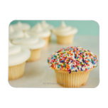 Cupcakes, focus on one in front with vinyl magnet