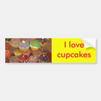 Cupcakes galore car bumper sticker