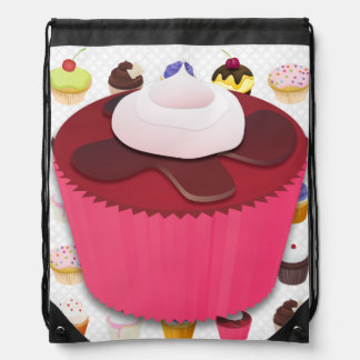 Cupcakes Galore - Drawstring Backpack 3