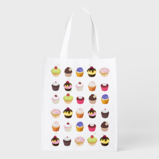 Cupcakes Galore -Grocery Bag Market Totes