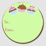 Cupcakes Gift Tag Sticker