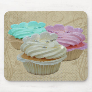 Cupcakes Grunge Mouse Pad