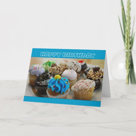 Cupcakes Happy Birthday Humor Card