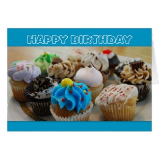 Cupcakes Happy Birthday Humor Greeting Card