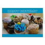 Cupcakes Happy Birthday Humor Greeting Card