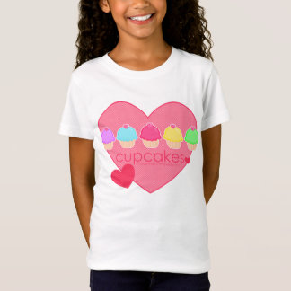 Cupcakes Heart for Kids T-Shirt