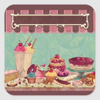 Cupcakes & Ice Cream Patisserie Sweets Stickers