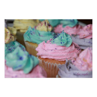 Cupcakes in Pastel Poster