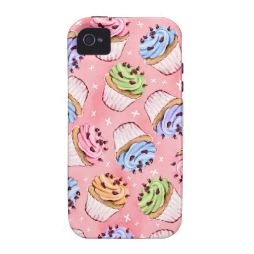 Cupcakes & Kisses iPhone 4 Case