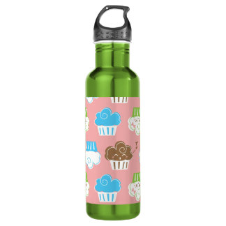 Cupcakes Liberty Bottle 24oz Water Bottle