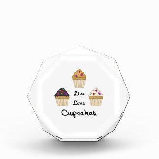 Cupcakes Live Love Acrylic Award