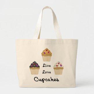 Cupcakes Live Love bag
