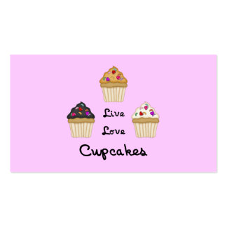 Cupcakes Live Love Business Card Template