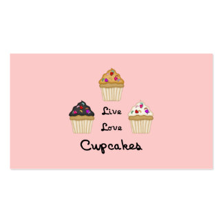 Cupcakes Live Love Business Cards