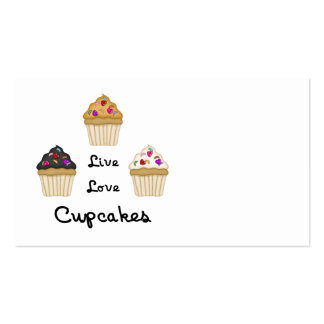 Cupcakes Live Love Business Card