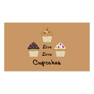 Cupcakes Live Love Business Card Templates