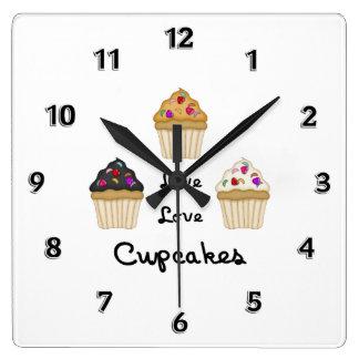 Cupcakes Live Love Wallclock