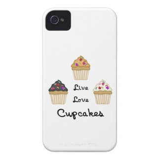Cupcakes Live Love iPhone 4 Covers