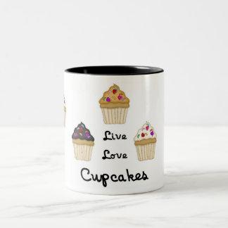 Cupcakes Live Love Mug
