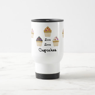 Cupcakes Live Love Coffee Mug