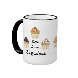 Cupcakes Live Love Mugs