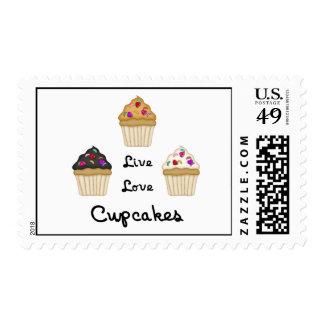 Cupcakes Live Love Stamp